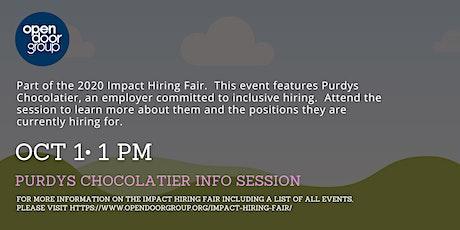 Impact Hiring Fair - Purdys Info Session tickets