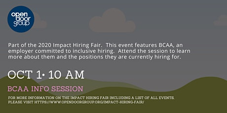Impact Hiring Fair - BCAA Info Session tickets