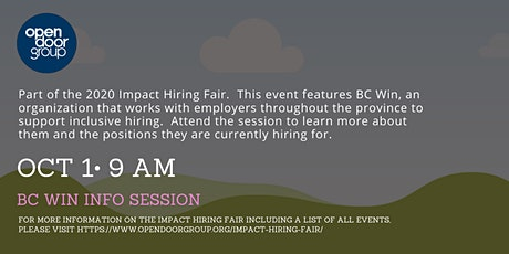 Impact Hiring Fair - BC Win Info Session tickets