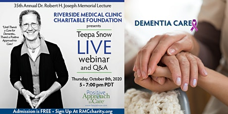 Teepa Snow LIVE: 2-hr webinar + Q&A with leading Dementia Expert (FREE) tickets