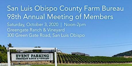 San Luis Obispo County Farm Bureau 98th Annual Meeting of Members tickets