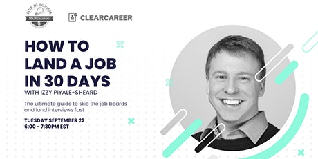 (FREE) Webinar | How To Land A Job In 30 Days tickets