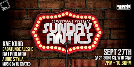 Sunday Antics - 27th Sept tickets