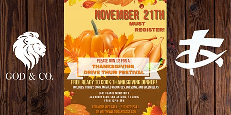GOD&CO. THANKSGIVING DRIVE THRU FESTIVAL tickets