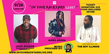 """IN YOUR BACKYARD LIVE"" tickets"