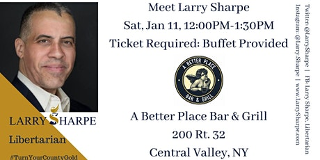 Meet Larry Sharpe at A Better Place Bar & Grill, Central Valley tickets
