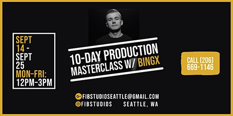 10-Day Production Masterclass W/ Bingx tickets