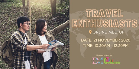 Travel Enthusiasts (Online Meetup) (50% OFF)