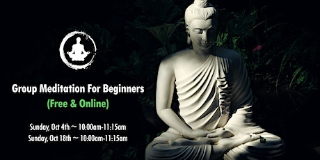 Online Group Meditation for Beginners (Free) tickets