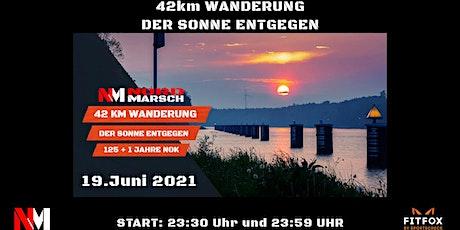 125+1 Jahre Nord-Ostsee-Kanal 42km Wandermarathon Der Sonne entgegen... Tickets