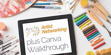 Artist Networking plus Canva Walkthrough tickets