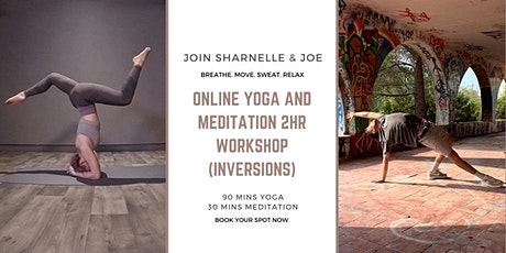 Online Yoga and Meditation 2HR Workshop (Inversions) tickets