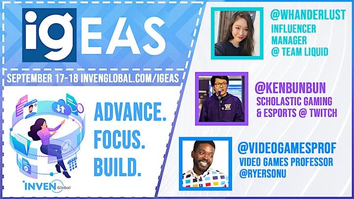Inven Global Esports & Academia Summit (IGEAS) Online 2020 image