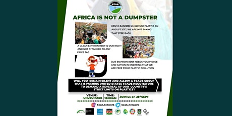 AFRICA IS NOT A DUMPSTER tickets