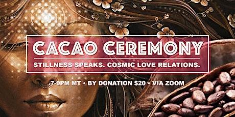 Virtual Cacao Ceremony tickets