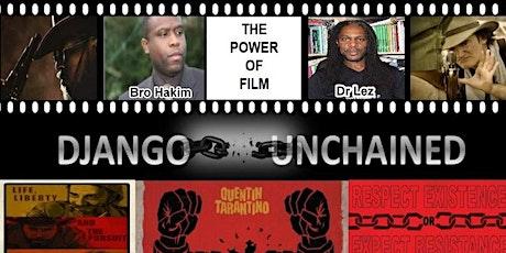WEBINAR: Django Unchained Or Tarantino  Unrestrained? (Over 16s) tickets
