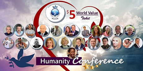 Humanity Conference 2020 -  $5 for 5 Evenings World-Value Ticket tickets