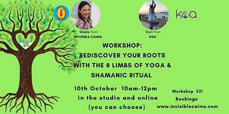 Workshop: rediscover your roots with yoga and rituals -online and studio tickets