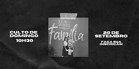 CULTO DE DOMINGO - 27/09/2020 ingressos