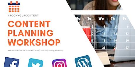 Content Planning Workshop tickets