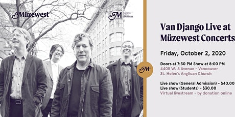 Van Django Live at Muzewest Concerts tickets