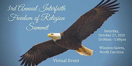 3rd Annual Interfaith Freedom of Religion Summit - Winston-Salem, NC entradas