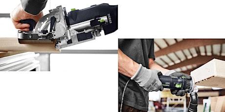 Geräte-Einführung: Festool Domino-Dübelfräse und Kantenfräse (intern) Tickets
