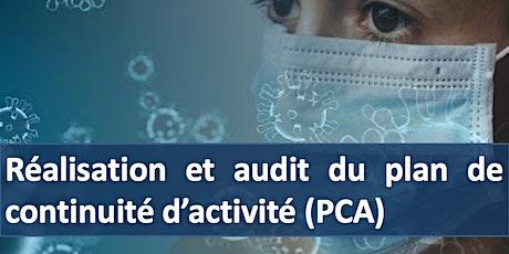 """Formation """" Réalisation et audit du plan de continuité d'activités (PCA) """" billets"""