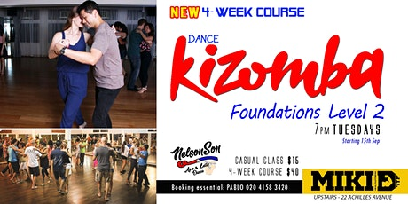 Dance KIZOMBA -  Foundations Lv2 4-week Course [Term 3] tickets