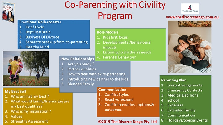 "Parenting after separation ""Co-Parenting with Civility"" Program (MidWeek) image"