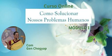 Curso Como Solucionar Nossos Problemas Humanos MÓDULO I ingressos