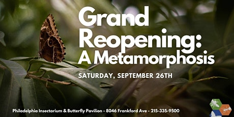 Grand Reopening: Insectarium and Butterfly Pavilion tickets