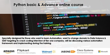 Learnbay : Learn Python basic and Advance for working professionals tickets