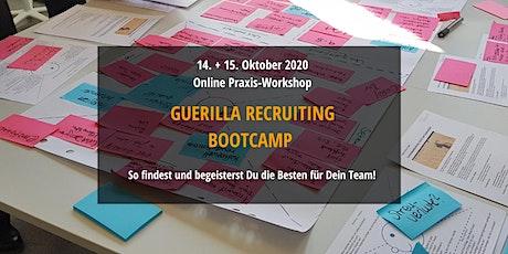 Guerilla Recruiting Bootcamp - Online Kreativ-Workshop + Masterclass Tickets