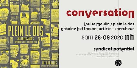 Conversation Louise Moulin (Plein le dos) et Antoine Hoffmann billets