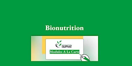 Bionutrition - Module de formation à la carte billets