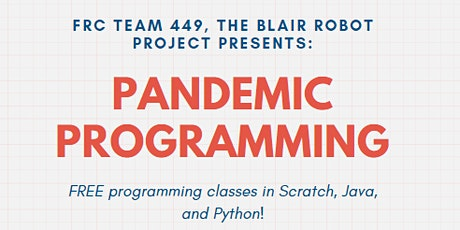 Pandemic Programming: Intro to Python tickets