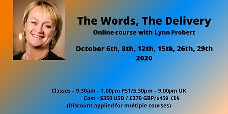 The Words, The Delivery, ONLINE mediumship with Lynn Probert tickets