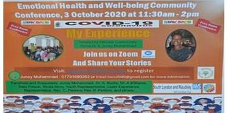 Emotional Health and Well-being Community Conference 3 October 2020, tickets