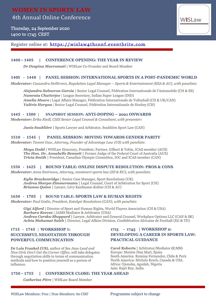 WISLaw 4th Annual Online Conference image