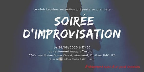 SOIRÉE D'IMPROVISATION SPÉCIALE TOASTMASTERS tickets