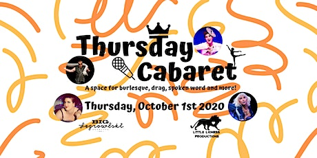 Thursday Cabaret-October 2020 tickets