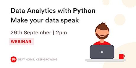 English Webinar - Data Analytics with Python | Le Wagon SP tickets