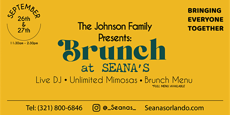 The Johnson Family Presents: Brunch At Seana's tickets