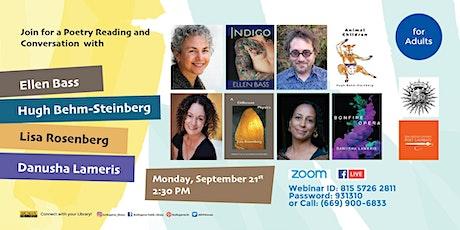 Bookfest: Ellen Bass, Hugh Behm-Steinberg, Danusha Lameris, Lisa Rosenberg tickets