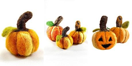 Spooky Virtual Felted Pumpkins Workshop tickets