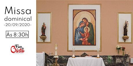Missa Dominical - 20 de setembro - 8:30 ingressos