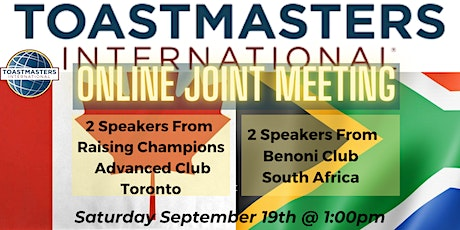 Toastmasters Canada & South Africa Joint Meeting tickets