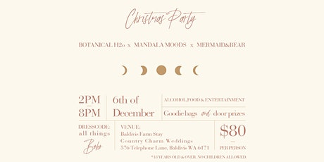 Botanical H2o, Mandala Moods & Mermaid and Bear - Christmas Party tickets