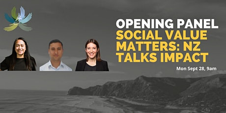Opening Panel: Social Value Matters NZ Talks Impact tickets